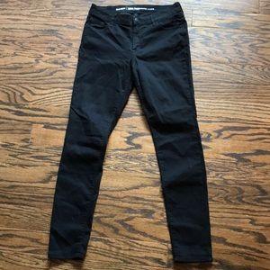 Old navy black super skinny mid-rise jeans